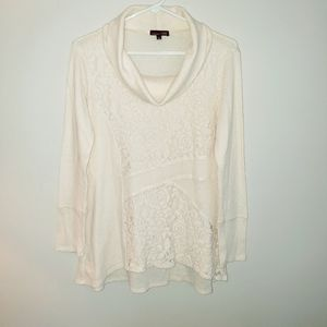 rxb lace and waffle knit tunic S